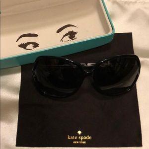 Black Kate Spade Evette Sunglasses
